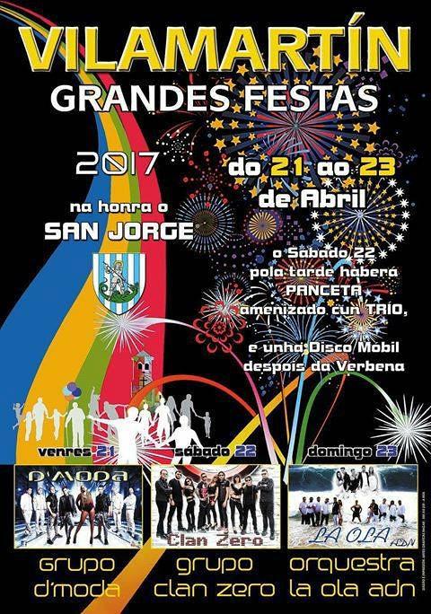 Vilamartín de Valdeorras 2017 - Festas de San Xurxo - cartel