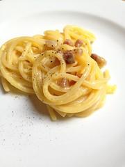 bucatini(1.0), spaghetti(1.0), pasta(1.0), spaghetti aglio e olio(1.0), fettuccine(1.0), produce(1.0), pici(1.0), food(1.0), dish(1.0), carbonara(1.0), bigoli(1.0), cuisine(1.0),