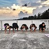 sunrise yoga with saniya was awesome. :)