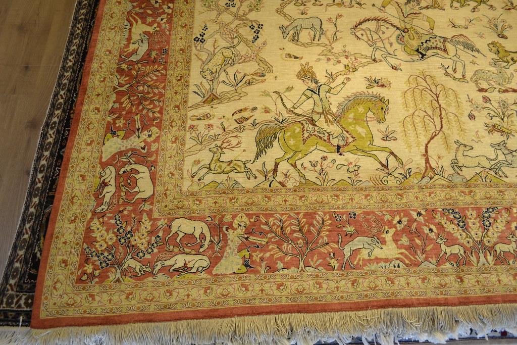 Qum Silk Persian Rug Item 5000
