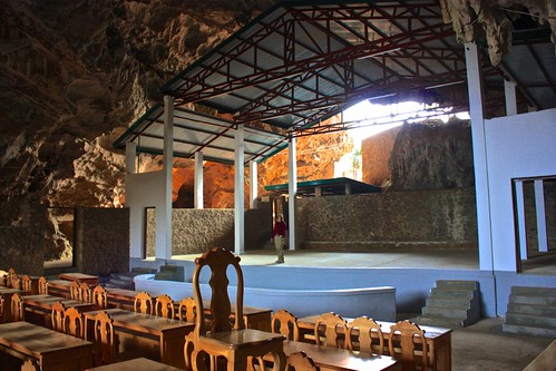 a theater was built into elephant cave