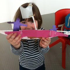 We've created a pirate ship out of paper, straws and paperclips.