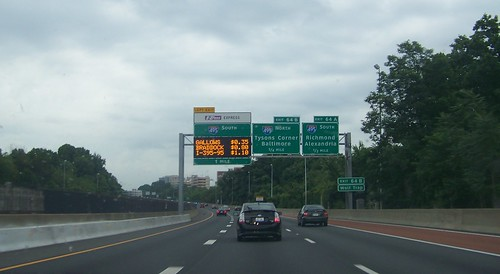 Toll rate sign, I-495, Northern Virginia