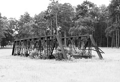 Pony Truss Bridge, Formerly Carrying Tony Tap Road over Winters Bayou, Cleveland, Texas 1306151145BW