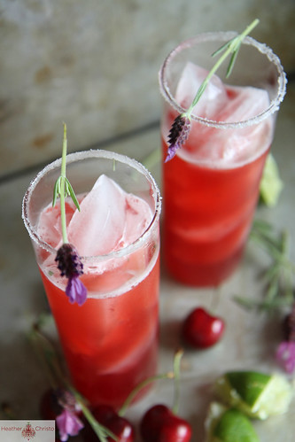 Cherry Lavender Beer Margarita