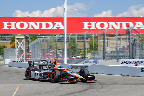 Carlos Munoz, Sunday practice at the Honda Indy Toronto