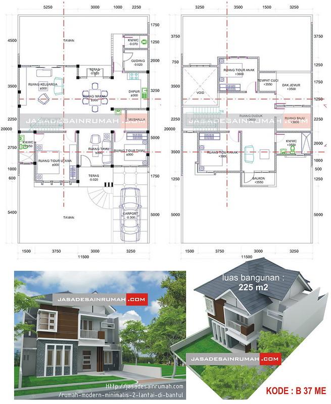 10 Desain Rumah 2 Lantai Modern Elegan Unik: Rumah Modern Minimalis 2 Lantai Di Bantul @ Jasa Desain Rumah