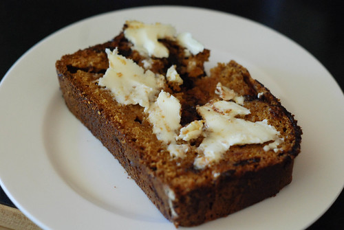 Pumpkin Bread with Butter