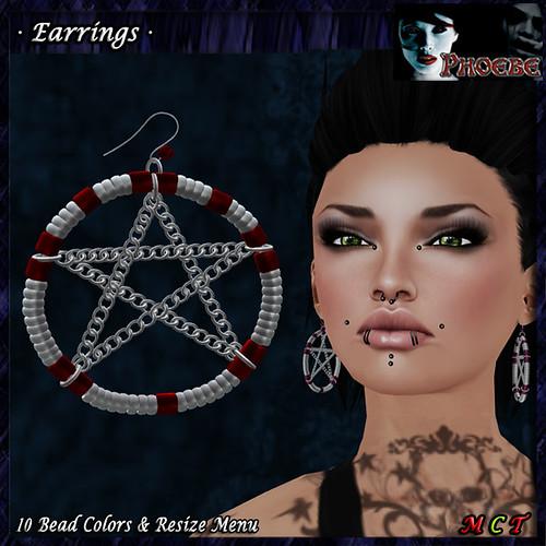 *P* Zaira Silver Earrings ~10 Bead Colors~