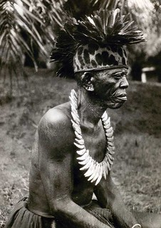 Chief from the Yanonghe, Lokele tribe. Congo, 1937.
