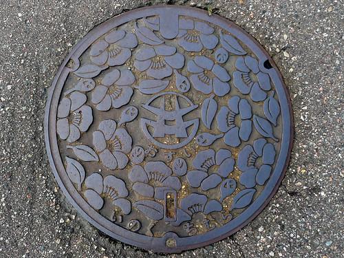 Inokuchi Toyama , manhole cover (富山県井口村のマンホール)