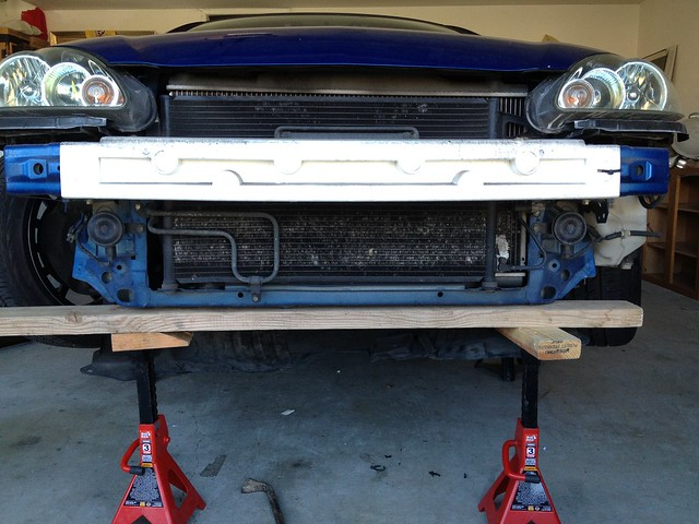 DIY bent radiator support easy fix - Club RSX Message Board