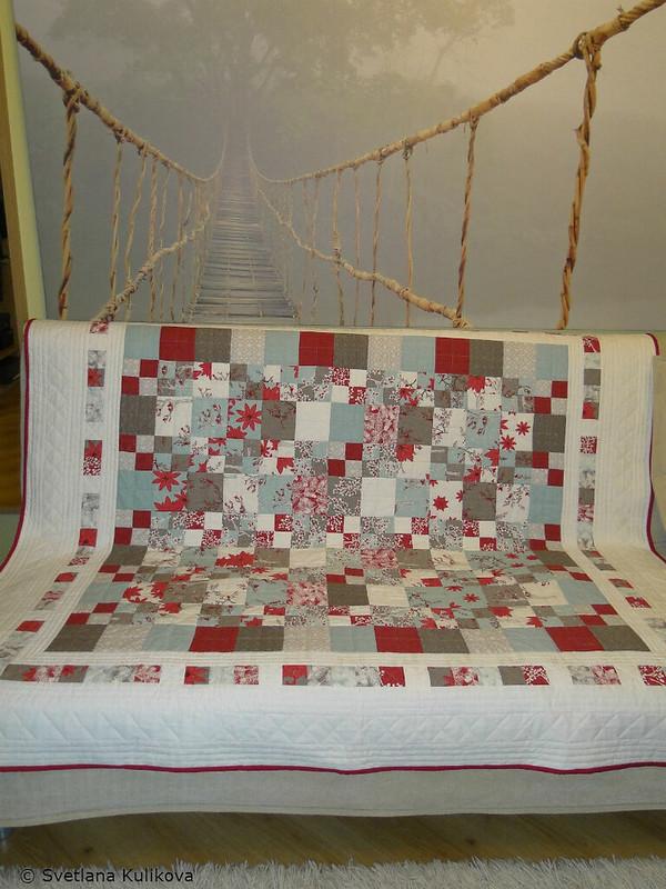 Svetlana's quilt on the sofa-1