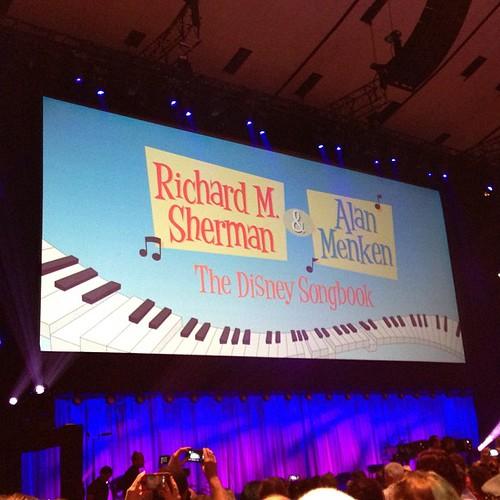 まもなくスタート、今回のD23 Expoの目玉中の目玉、Richard M.Sherman & Alan Menken The Disney Songbook.