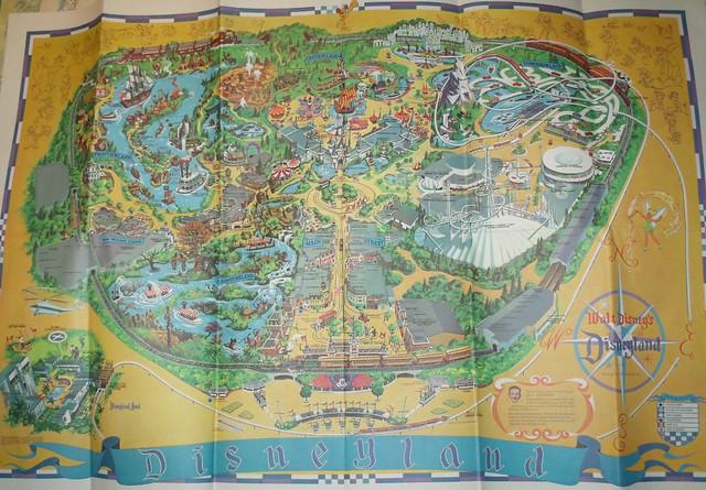 1968 Disneyland Souvenir Poster Map