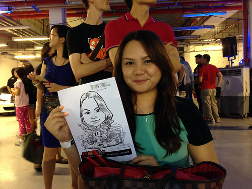 caricature live sketching for NTUC U Grand Prix Experience 2013 - 29