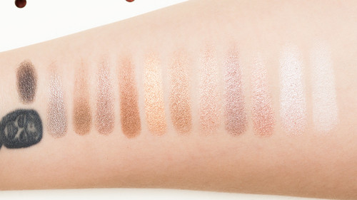 Eye on Neutral Shimmer - swatches with primer