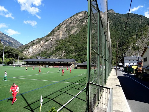 FC Lusitanos B v UE Engordany, 2nd Andorran league at Aixovall stadium.