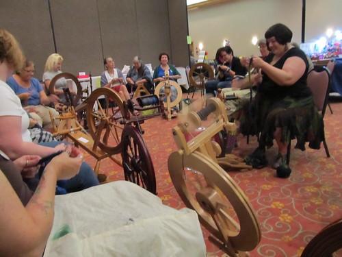 Spinning circle