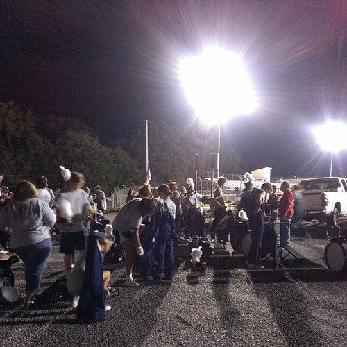 Band kid coax! Loss on our #football game #DarPatriots #DarMarchingPatriots getting undressed to load the buses. #bandkids #bandparents #momofboys