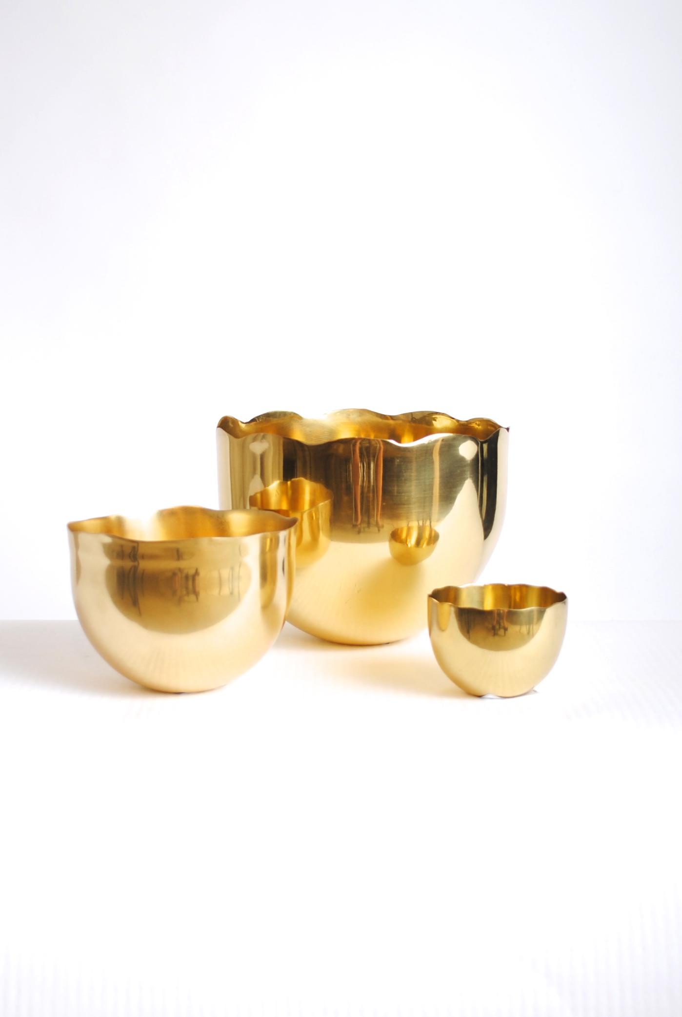 Stockholm Polished Brass Bowl (Set of 3)