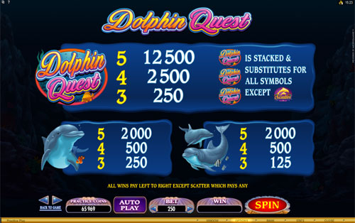 free Dolphin Quest slot payout
