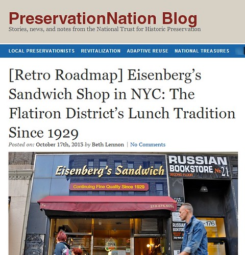 Retro Roadmap  Eisenberg s Sandwich Shop in NYC  The Flatiron District's Lunch Tradition Since 1929     PreservationNation Blog