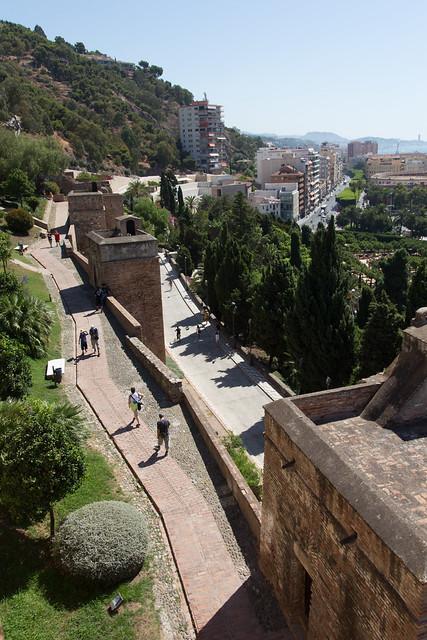 Malagan näkymää Alcazabon linnasta