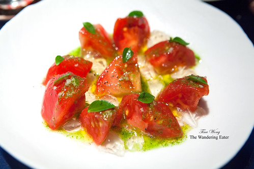 Course 11: Tomato and basil salad