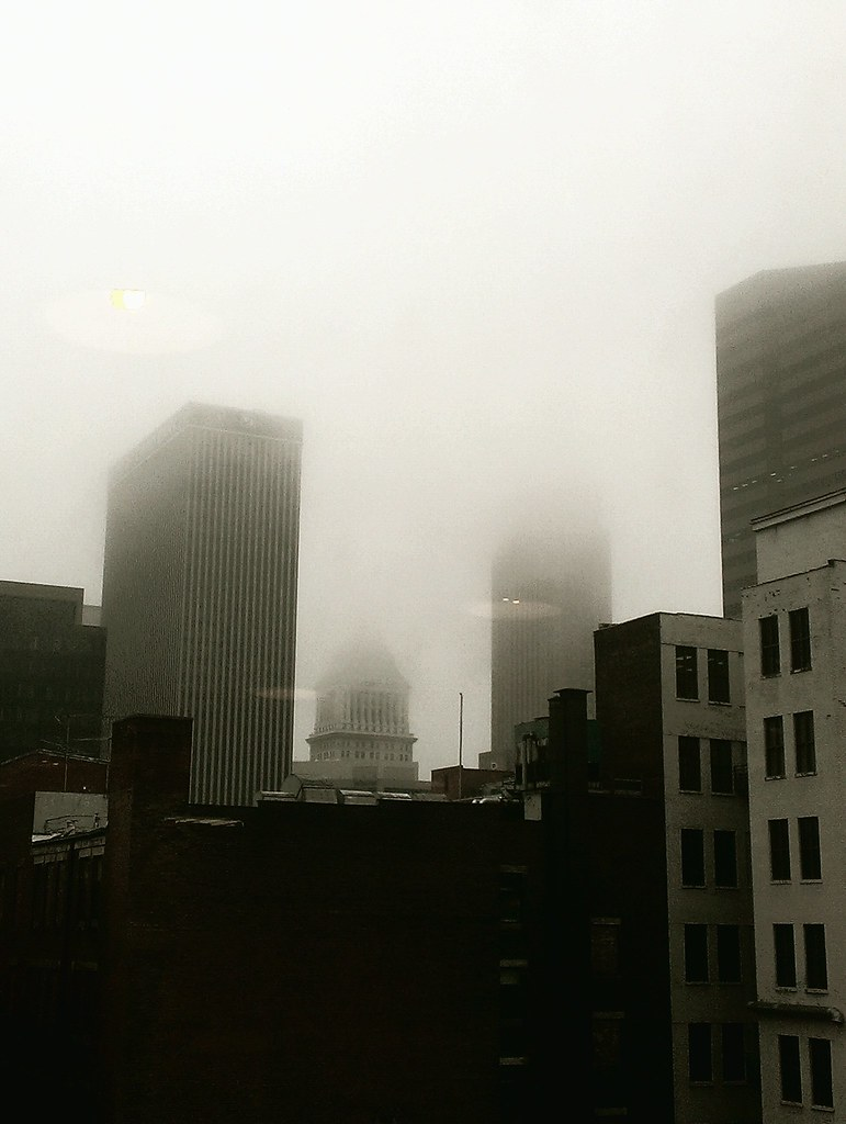 Foggy Cincinnati