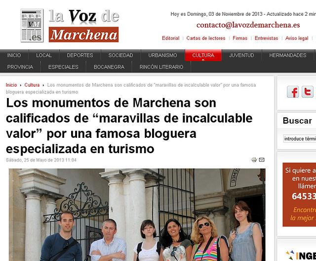 Blog de Viajes Diario de un Mentiroso en la Voz de Marchena