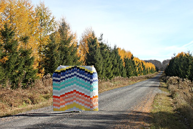 Sunset Quilt -- Road