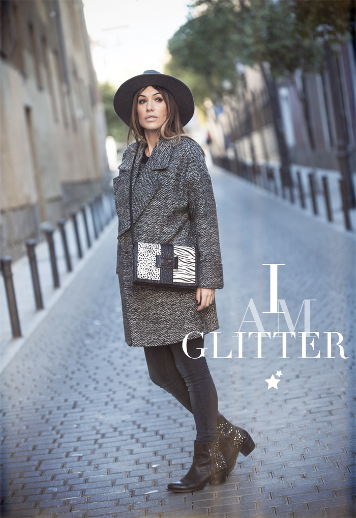 street style barbara crespo i am glitter bag fashion blogger outfit