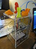 Low-cost 3D printer developed by one of the Hong Kong volunteers