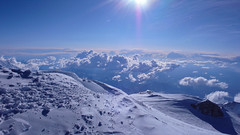 Widok ze szczytu Mount Mckinley (6149m) na zachod