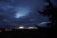 Klaus Naujok posted a photo:	Thanks to the heavy overcast and cold temperature the sunrise looks so dark but still beautiful.
