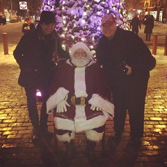 Today's holiday festivity coverage #ww2013 #southstreet #winterwonderland brought to you by @phillychitchat @ianmcrumm and guest #pr #santaclaus #santa #heysanta #santaallthumbs