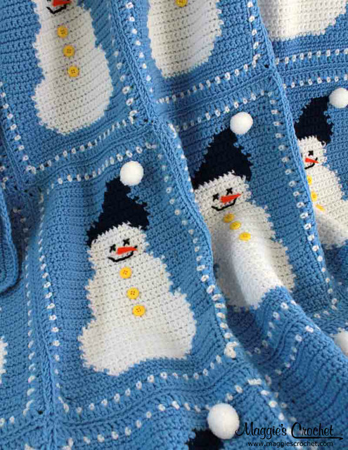 Snowman Cushion Knitting Pattern : Snowman Afghan and Pillow Crochet Pattern PA617 Flickr - Photo Sharing!