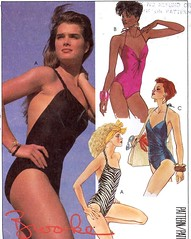 McCalls 9566 swimsuit  Bathing suit Brooke Shields