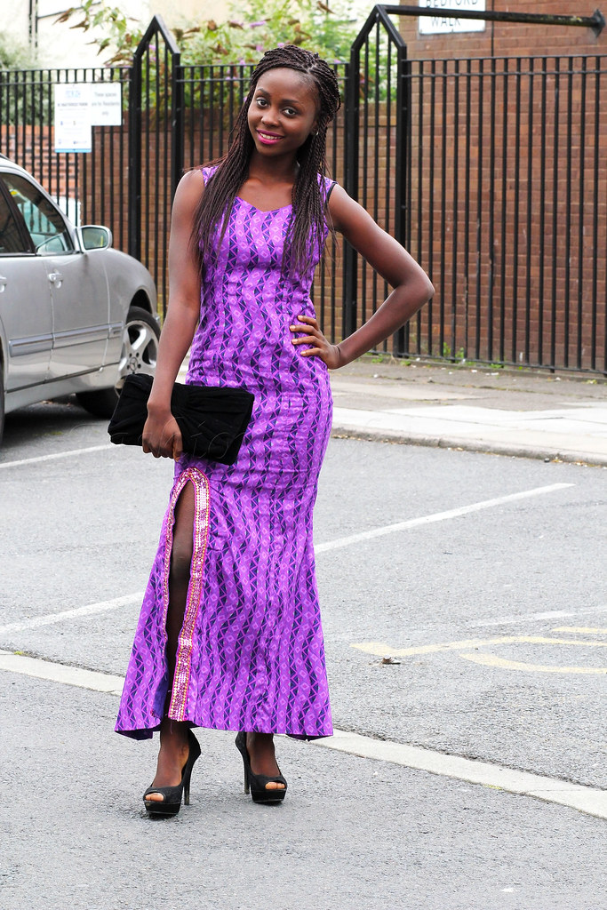 thigh-high-slit-ankara-dress, ankara gown styles, ankara flared gown, Dress With Slits‎, ankara gown, how to wear thigh high slit dress, how to wear thigh high slit, Ankara dress, kitenge gown with slit