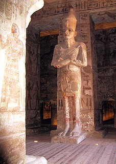 Osirid statue of Ramesses II inside temple at Abu Simbel