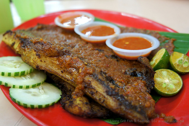 Loong Grill Fish & Seafood, SS2 - grilled fish with dry prawn paste