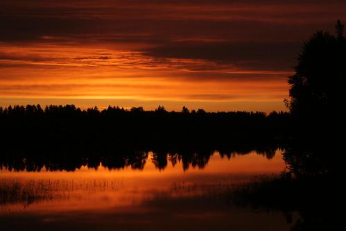 sunset reflection sunrise finland iisalmi koljonvirta
