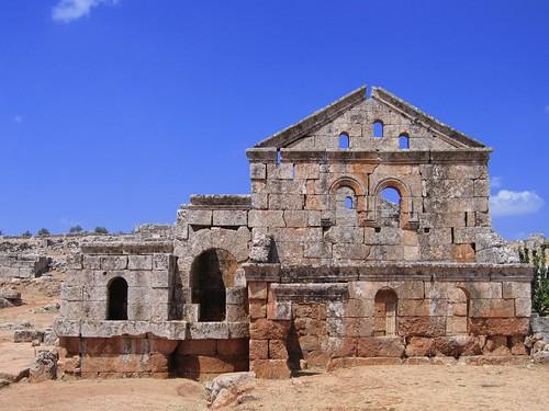 Foto de un edificio de una de las ciudades muertas (Siria)