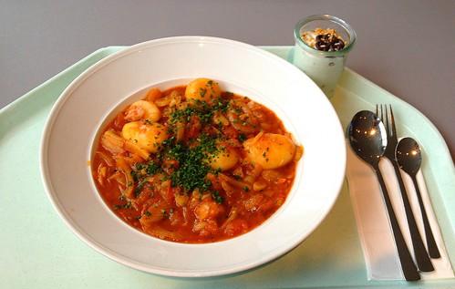 Fenchel-Tomatenragout  mit Kartoffeln / Fennel tomato ragout with potatoes