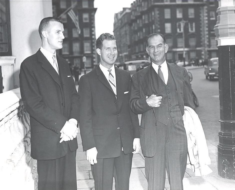 ExecSec of USUK Commission William Gaines, Senator Fulbright, and Fulbright U.S. Student Jeff Duty JR