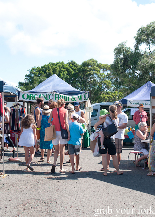 Shoppers at Frenchs Forest Organic Food Market