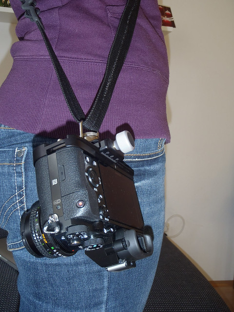 Sony A7 on the SunSniper camera strap
