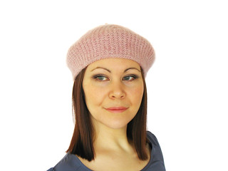 Divot Beret in two yarn weights