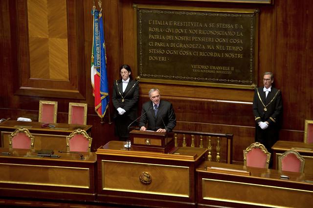 Stallo nell'Aula del Senato. Polemiche del PD contro il Presidente Grasso